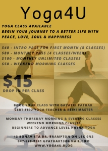 Turquoise Blue Yoga Fitness Flyer-3